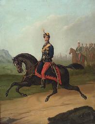 Portrait of a Rumanian cavalry