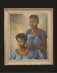 Portrait de deux femmes africa