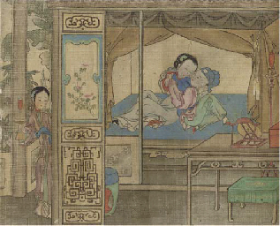 A Chinese erotic hand scroll, 19th Century