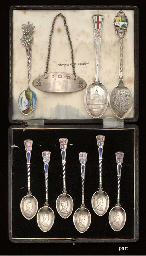 A MIXED LOT OF SILVER AND PLATED WARES