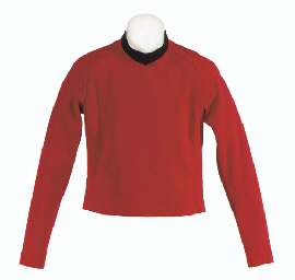 CHEKOV'S RED SECURITY UNIFORM SHIRT