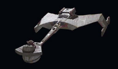 KLINGON BATTLE CRUISER MODEL AND POWER SUPPLY