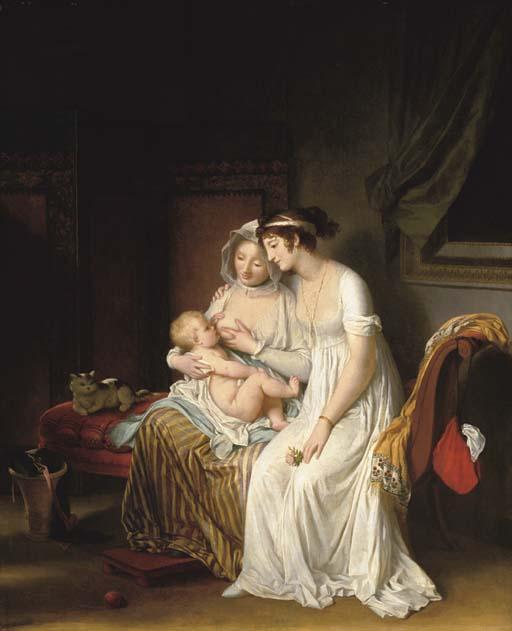 Marguerite Gérard (1761-1837): La Nourrice (De min) ca. 1802
