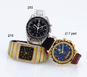 BREITLING. A GROUP OF THREE QU