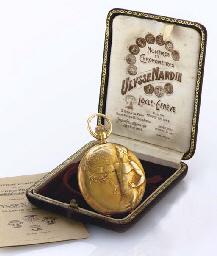 ULYSSE NARDIN. AN 18K GOLD HUN
