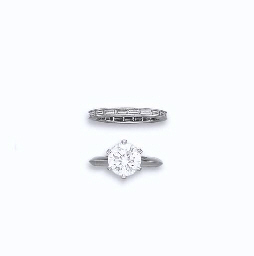 A DIAMOND RING AND BAND, BY TI