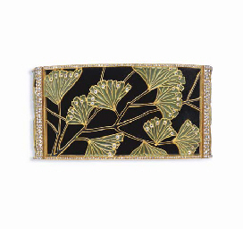 AN ART NOUVEAU ENAMEL AND DIAM