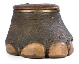 An Elephant S Foot Stool Late 19th Century Christie S