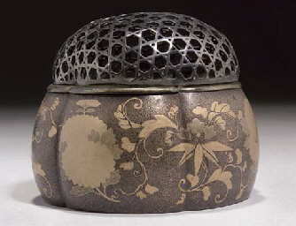 A Japanese lacquer koro and wh