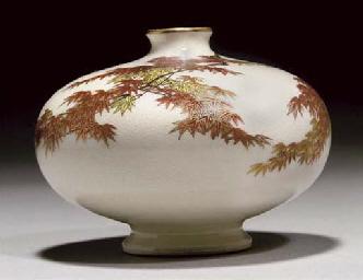 A Japanese satsuma miniature v