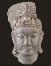 A Gandharan grey schist fragme