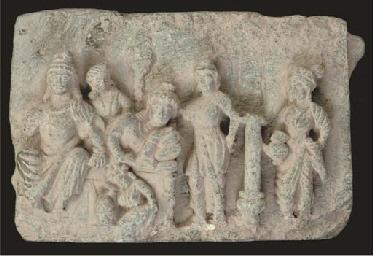 A Gandharan grey schist frieze