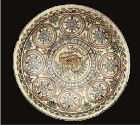 A Tunisian pottery dish, North