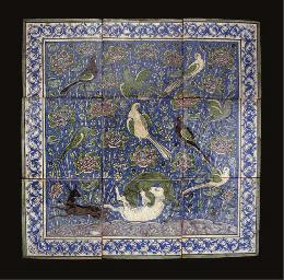 A QAJAR TILE PANEL, IRAN, 19TH