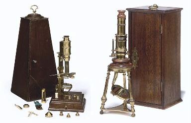 Two Replica Rara microscopes