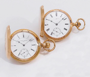 Vacheron Constantin A lot of two 18K gold hunter case keyles...