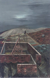 Industrial Landscape with Pylo