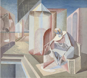 Composition with a Seated Figu
