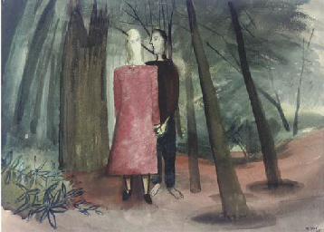 Lovers in a Glowing Wood