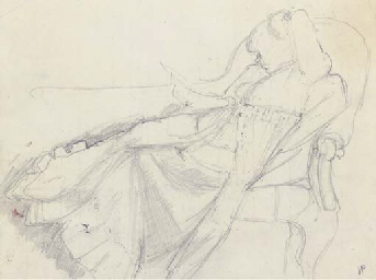 Study for Interior with Reclin
