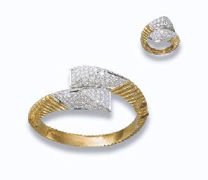 A DIAMOND AND GOLD SET, BY KUT