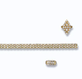 A DIAMOND RING, BY BOUCHERON AND A DIAMOND BRACELET AND RING...
