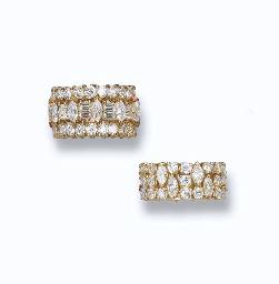 TWO DIAMOND ETERNITY RINGS, BY