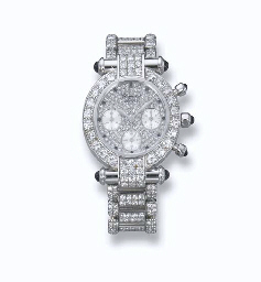 A LADY'S 18K WHITE GOLD, DIAMO