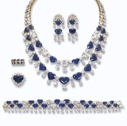 A SAPPHIRE AND DIAMOND SUITE