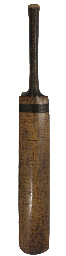 AN EARLY AUTOGRAPHED BAT, c1890-1920