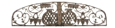 A WROUGHT IRON CRESTING