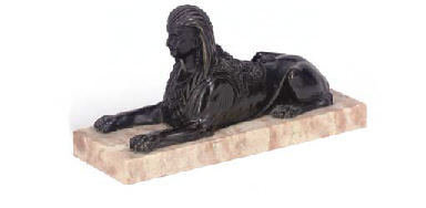AN EMPIRE BRONZE MODEL OF A RE