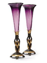 A PAIR OF FRENCH PARCEL GILT B