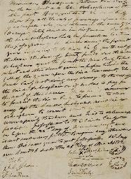 PENN, John (1741-1788), Signer (North Carolina) . Document signed (