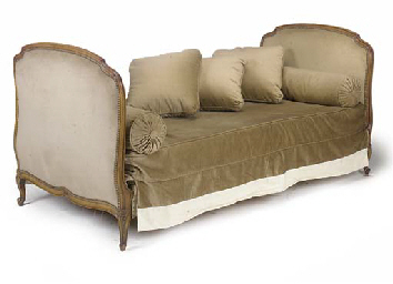 A FRENCH BEECH DAYBED