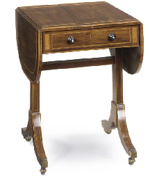 A LATE GEORGE III ROSEWOOD AND