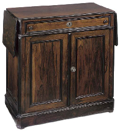 A NORTH EUROPEAN ROSEWOOD AND