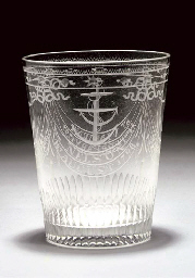 A TUMBLER ENGRAVED TO COMMEMOR