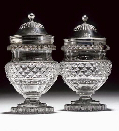 A PAIR OF SILVER-MOUNTED AND C