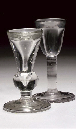 TWO TOASTMASTER'S GLASSES