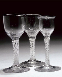 THREEE OPAQUE TWIST WINE-GLASS