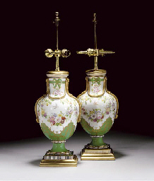 A PAIR OF MINTON SEVRES-STYLE