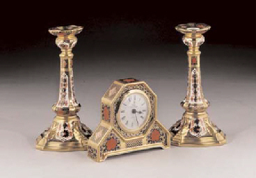 A PAIR OF ROYAL CROWN DERBY 'O