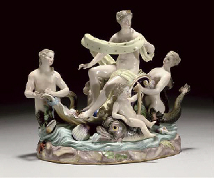 A MEISSEN GROUP OF VENUS AND A