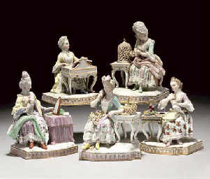 A MEISSEN COMPOSITE GROUP OF T