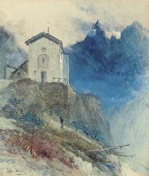 An alpine chapel, Courmayeur
