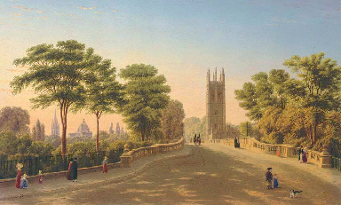 Magdalen Bridge and College, O