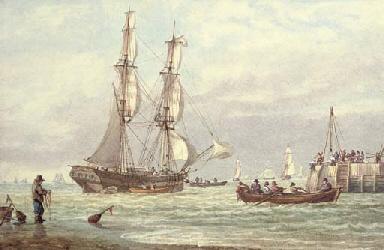 Brig off Yarmouth Harbour, Isl