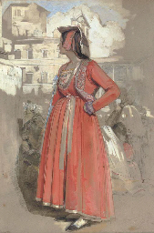 Study of a young Neapolitan wo