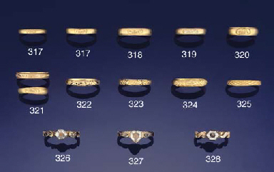 TWO 17TH CENTURY GOLD 'MEMENTO MORI' RINGS